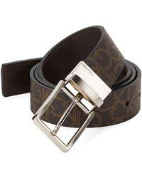 Calvin Klein Reversible Logo Belt - Lyst