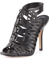 Pour La Victoire Laser-cut Soft Leather Sandal - Lyst