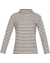 Orcival - Funnel-neck Striped Wool Jumper - Lyst