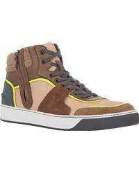Lanvin Side-zip Mid-top Sneakers - Lyst