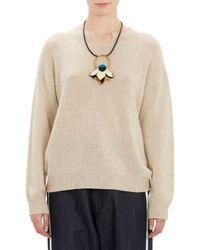 Marni Notch-neck Pullover Sweater - Lyst