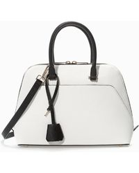 Zara Twocolour City Bag - Lyst