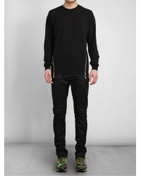 Versus  Zip Detail Cotton Sweatshirt - Lyst