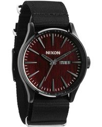 Nixon Sentry Dark Wood Black Watch - Lyst