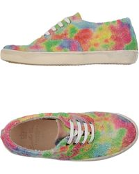Leather Crown Low-Tops & Trainers multicolor - Lyst