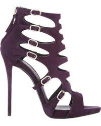 Giuseppe Zanotti Crystal Buckle Cutout Sandals - Lyst