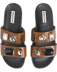 Whistles Maddy Jewelled Poolslide - Lyst