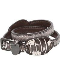 Bottega Veneta Double Intreccio Karung Bracelet - Lyst