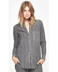Raquel Allegra Button Down Shirt - Lyst