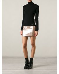 DSquared2 Metallic Mini Skirt - Lyst