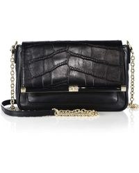 Diane von Furstenberg 440 Martini Crocodile-Embossed Shoulder Bag - Lyst