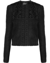 Isabel Marant Edge Embroidered Shearling Jacket - Lyst