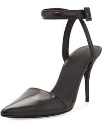Alexander Wang Lovisa Leather Ankle-Strap Pump - Lyst