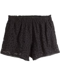 H&M Lace Shorts black - Lyst