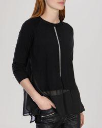 Karen Millen Sweater - Georgette Hem - Lyst