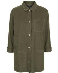 Topshop Utility Shirt Jacket - Lyst