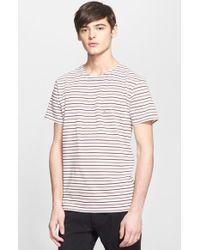 Marc Jacobs Men'S Stripe Cotton Pique T-Shirt - Lyst