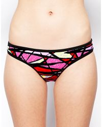 French Connection Shadow Dance Bikini Bottoms - Lyst