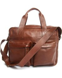 Veja Acacia Cognac Leather Tote Bag - Lyst