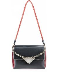 Sara Battaglia | Carol Shoulder Bag Black Ruby | Lyst
