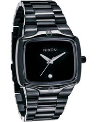 Nixon All Black The Player Watch black - Lyst