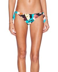Seafolly Kabuki Bloom Sweetheart Side Tie Bikini Bottom - Lyst