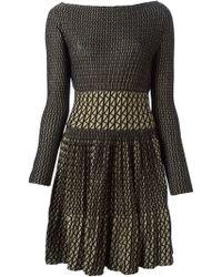 Blumarine Geometric Knit Patterns Dress - Lyst