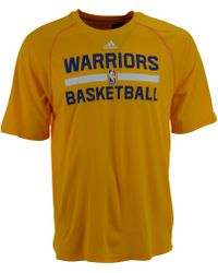 Adidas Mens Short-sleeve Golden State Warriors Climalite Practice T-shirt - Lyst