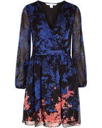 Diane von Furstenberg - Celia Printed Silk Chiffon Dress - Lyst