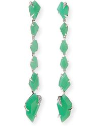 Alexis Bittar Fine - Chrysoprase Linear Kite Earrings - Lyst