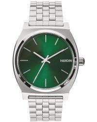 Nixon Silver Time Teller - Lyst