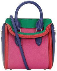 Alexander McQueen Mini Colour Block Heroine Bag - Lyst