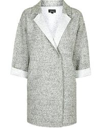 Topshop Wool Blend Throw-On Duster Jacket - Lyst