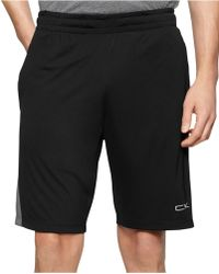 Calvin Klein Performance Colorblocked Gym Shorts black - Lyst