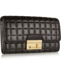 Michael Kors Gia Quilted Leather Clutch - Lyst