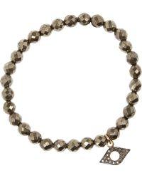 Chan Luu - Pyrite, Silver And Diamond Bracelet - Lyst