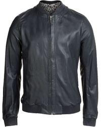 Jil Sander Leather Bomber Jacket - Lyst