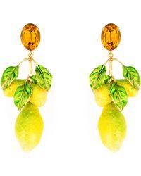 Dolce & Gabbana | Lemon Clip-on Drop Earrings | Lyst