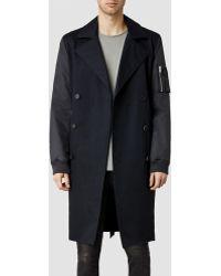 AllSaints Gunner Coat - Lyst