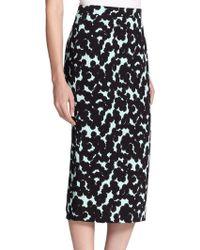 A.L.C. Bell Silk Floral-Print Pencil Skirt - Lyst
