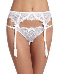L'agent By Agent Provocateur Vanesa Suspender Garter Belt white - Lyst