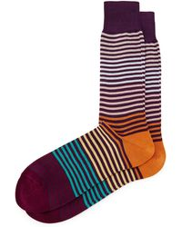 Paul Smith Pastel Multi Stripe Socks - Lyst