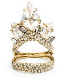 Alexis Bittar Jagged Diamond Cocktail Ring - Lyst