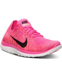 Nike - Women's Free Flyknit 4.0 Running Sneakers From Finish Line - Lyst