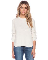 White + Warren Luce Multi Stitch Crew Neck Sweater - Lyst