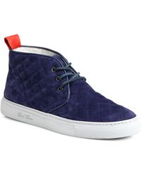 Del toro Quilted Suede Chukka Sneakers in Blue for Men   Lyst : del toro quilted chukka - Adamdwight.com
