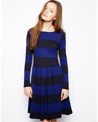 Chinti And Parker Chinti Parker Wide Stripe Aline Day Dress - Lyst