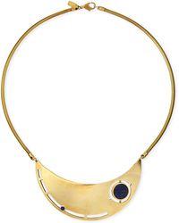 Pamela Love Rotation Lapis Breast Plate Necklace - Lyst