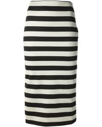 Burberry Prorsum Striped Pencil Skirt - Lyst