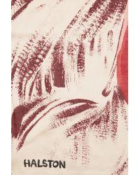 Halston Heritage Printed Silk Scarf - Lyst
